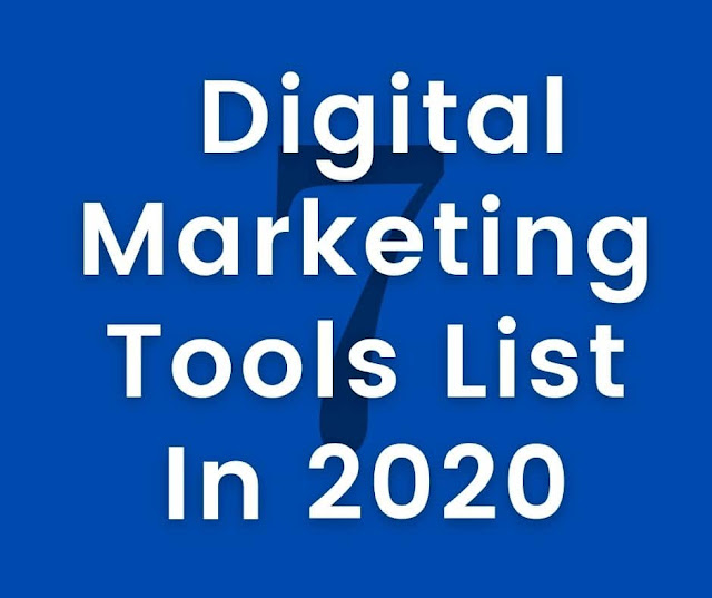 Digital Marketing Tools List In 2020