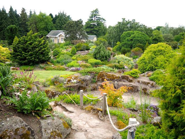 Rock garden in the Royal Botanic Gardens, Edinburgh, Scotland