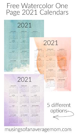 free 2021 printable calendars