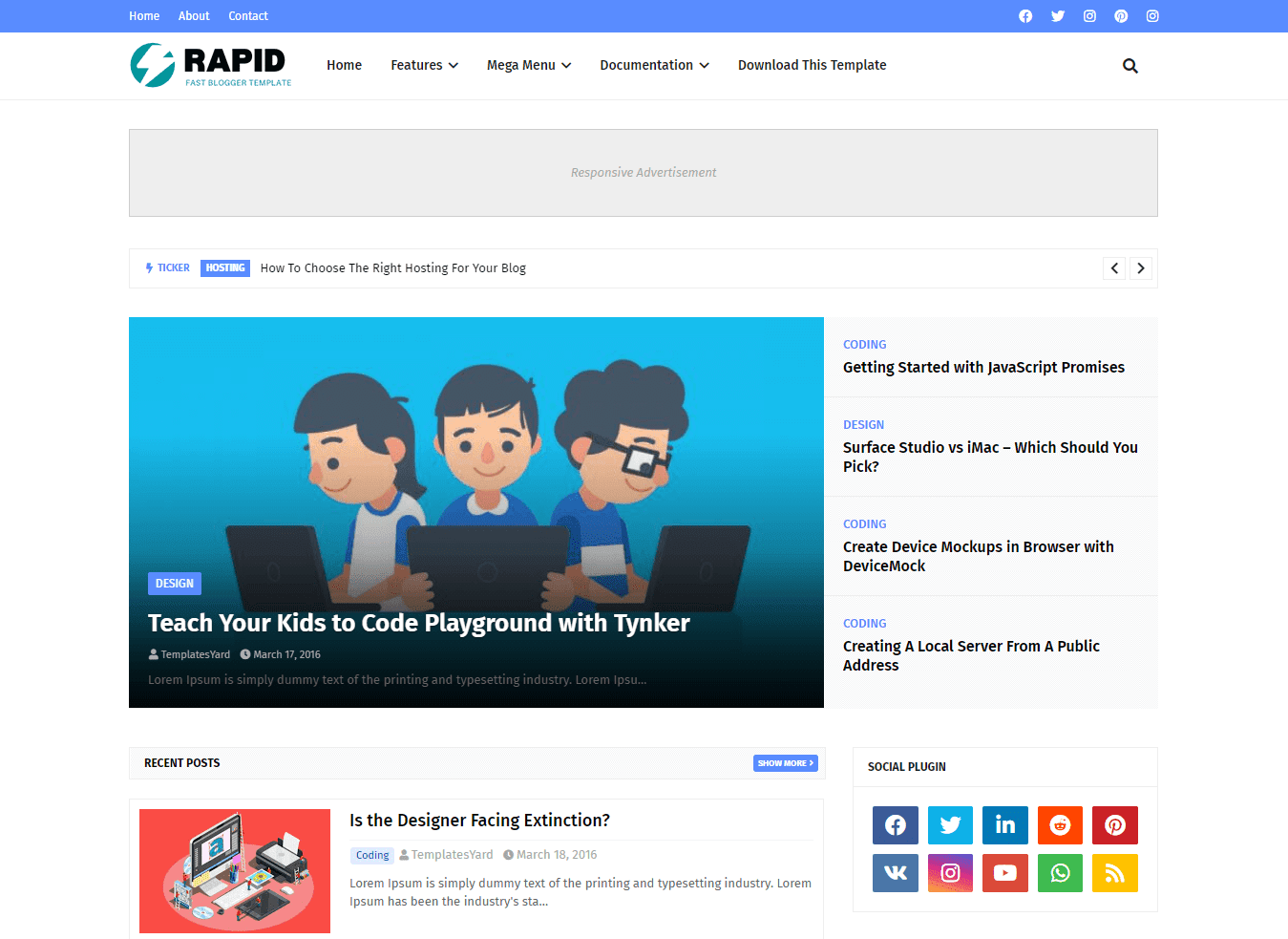 Rapid Blogger Template