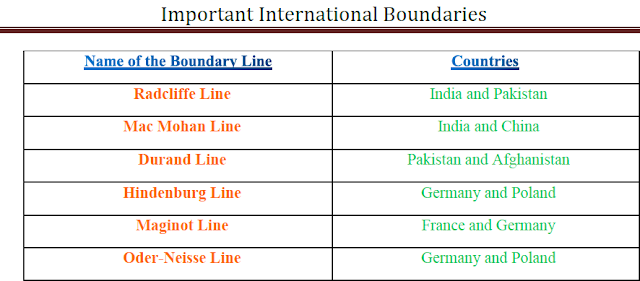 International Boundary Line PDF Free Download – Competitive Exams