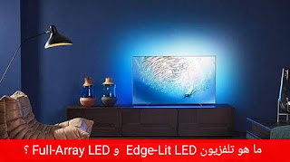 What is Edge-Lit LED TV and how does it differ from Full-Array LED TV