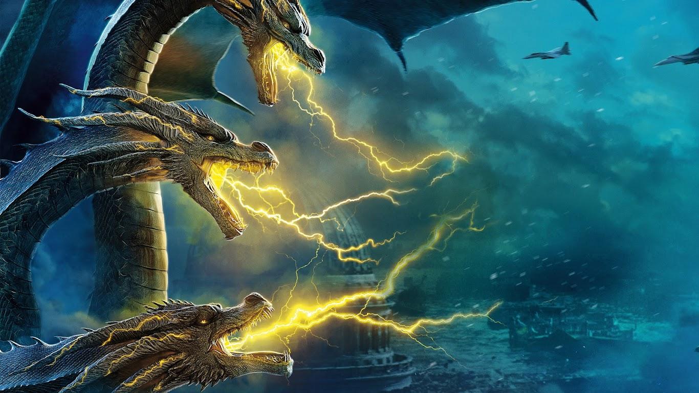 King Ghidorah, Godzilla: King of the Monsters, 8K, #29
