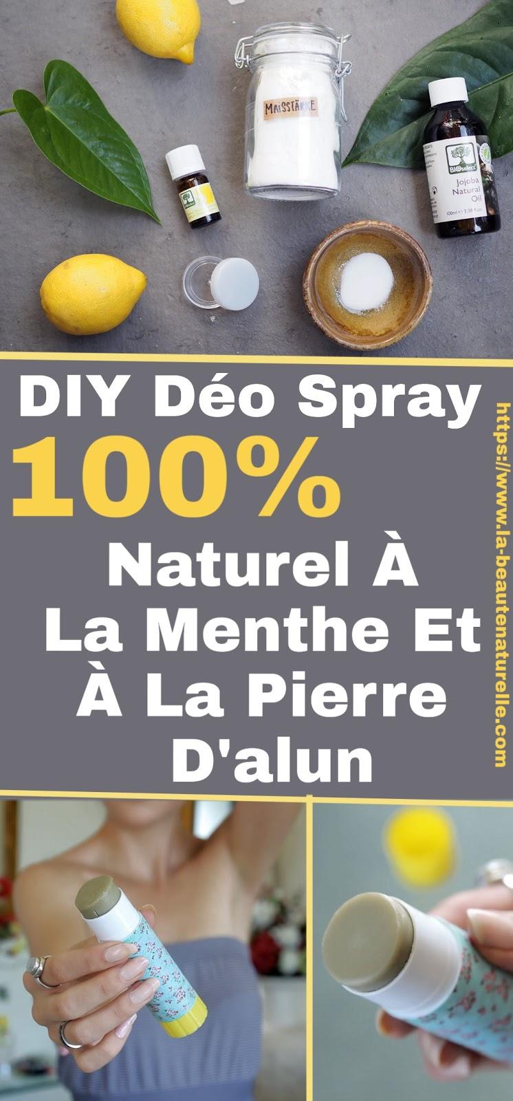 DIY Déo Spray 100% Naturel À La Menthe Et À La Pierre D'alun