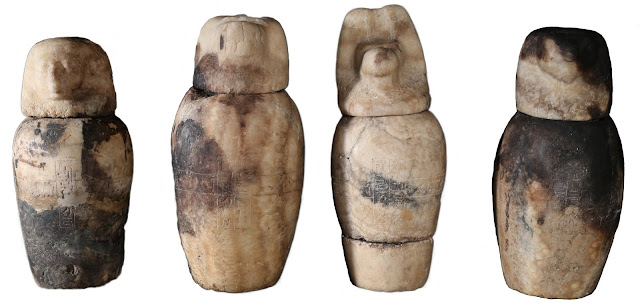26th Dynasty canopic jars discovered at Luxor's South Asasif necropolis