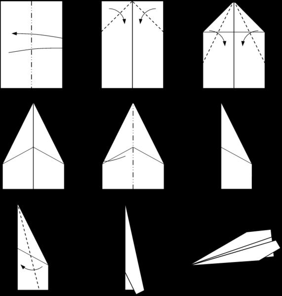 Samolot z papieru - jak zrobić - 10 pomysłów