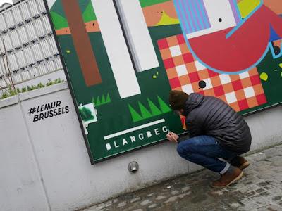 Blanc Bec graffiti