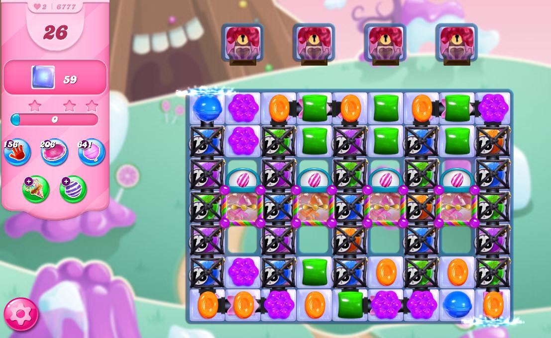 Candy Crush Saga level 6777