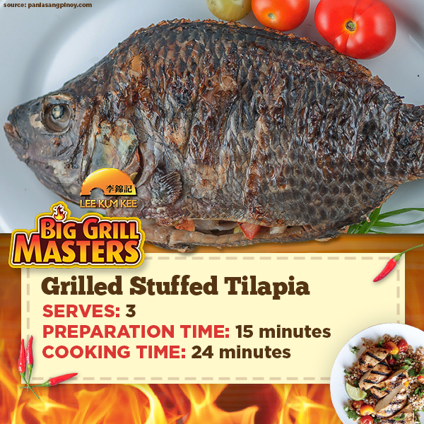 Grilled Stuffed Tilapia Recipe
