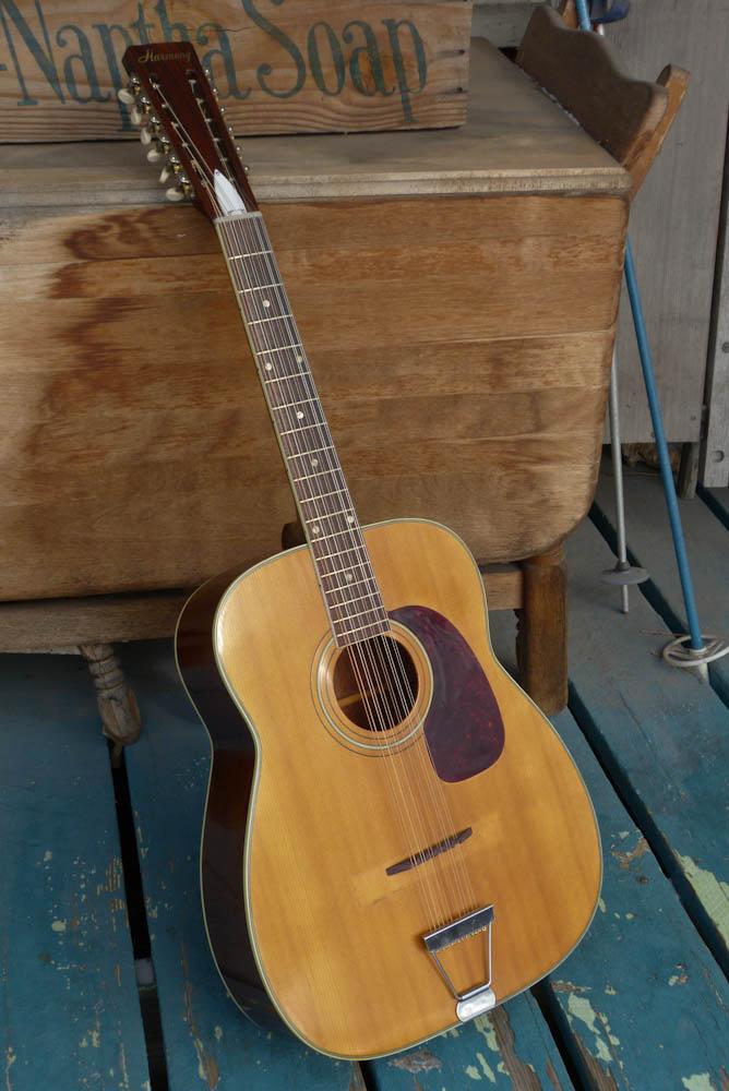 1967 Harmony H1270 Jumbo 12 String Guitar
