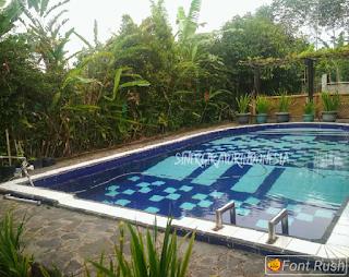 villa bogor sukabumi kolam renang