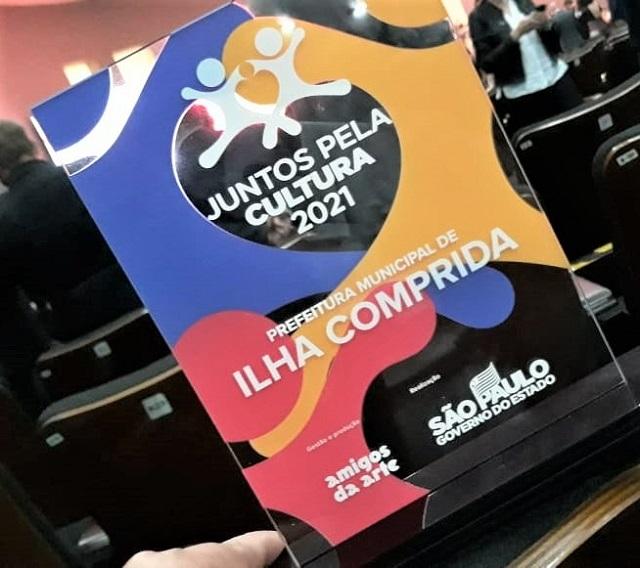 Ilha Comprida recebeu hoje 13/07 o prêmio Juntos pela Cultura 2021