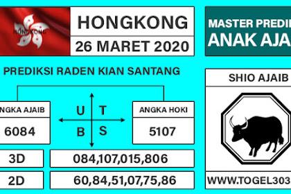 Angka Main Jitu Togel Hongkong Kamis 26 Maret 2020