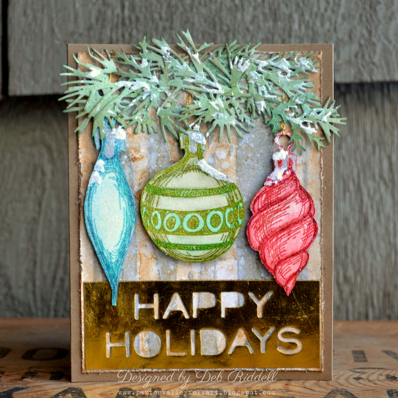 Paxton Valley Folk Art: Happy Ornaments Christmas Card