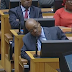 Watch video of President Zuma fall asleep during Finance Minister's mid-term budget speech