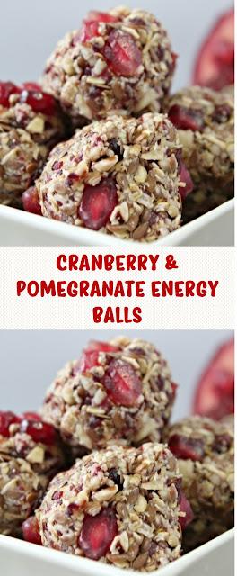 Cranberry & Pomegranate Energy Balls