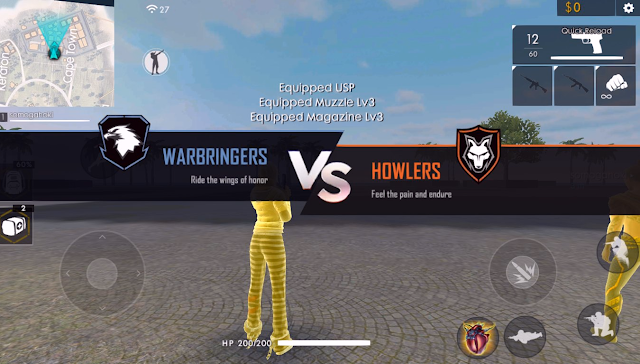 Advance Server FF Clash Squad Mode Fitur Buy Weapon