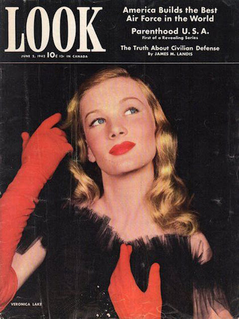Veronica Lake on the cover of Look Magazine, 2 June 1942 worldwartwo.filminspector.com