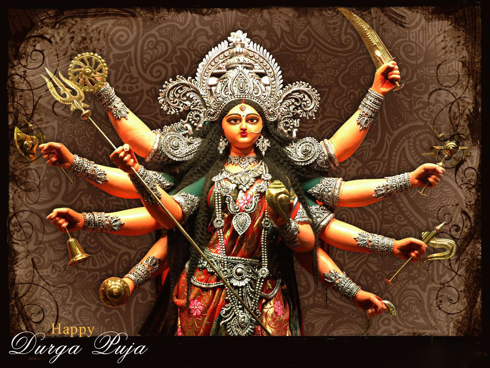Durga Puja Hd Wallpaper: Diwali Greetings: Durga Puja Wallpaper