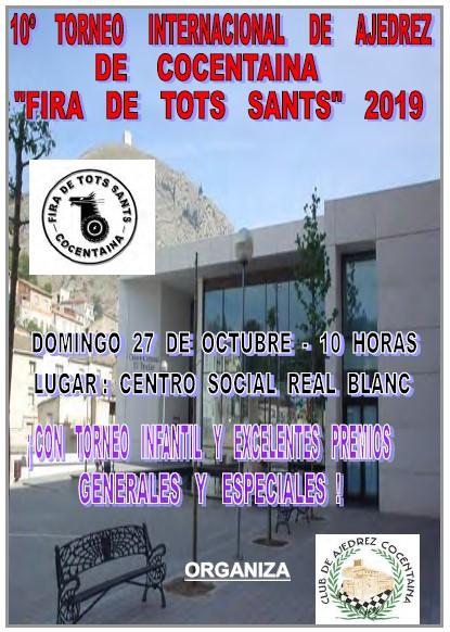 URGENTES: 27 octubre, Cocentaina Fira de Tots Sants (CC - CCI)