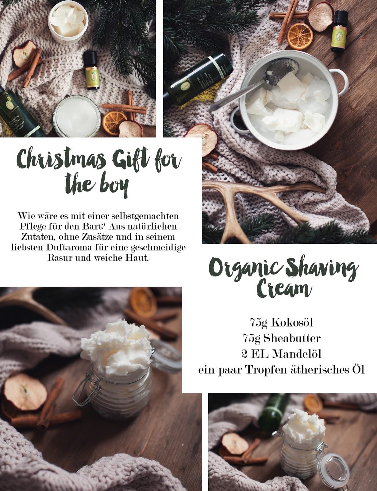 inlovewith diy weihnachtsgeschenk organic shaving cream f r m nner. Black Bedroom Furniture Sets. Home Design Ideas