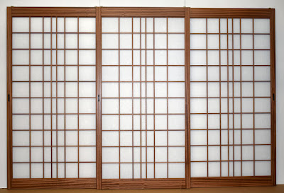 Custom Japanese Shoji screens built in Sapele