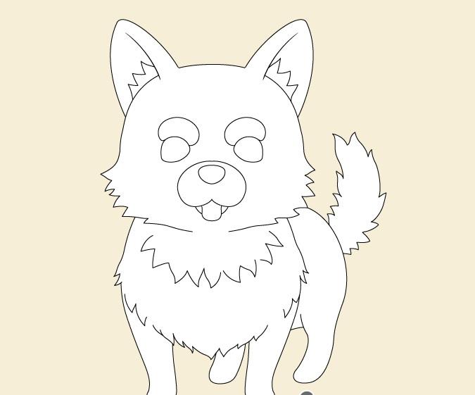 Gambar bulu anjing anime