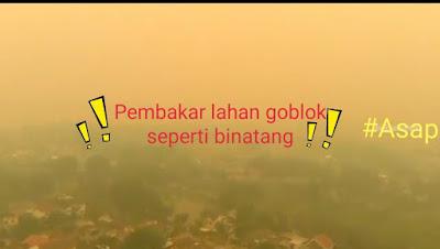 Keluhan terhadap asap di Kota Palembang