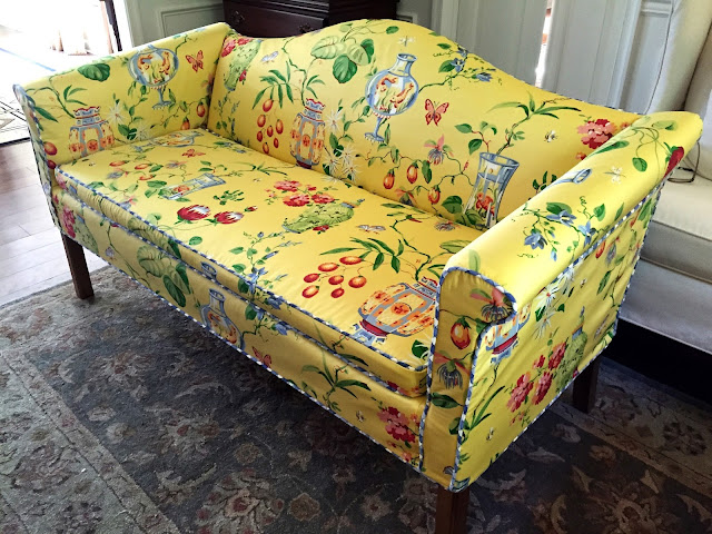 Pam Morris Sews The Happiest Little Loveseat You Ever Did See