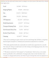 Kosten einer Weltreise kalkulieren und berechnen. Mit Auto, Motorrad, Selbstfahrer, Wohnmobil auf Weltreise das Reisebudget berechnen
