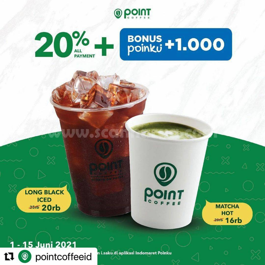 Promo Point Coffee Indomaret Discount up to 20% + 10% Off