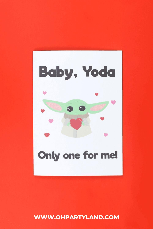 baby yoda card