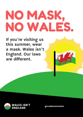Wales isn't England the laws are different Wear a mask