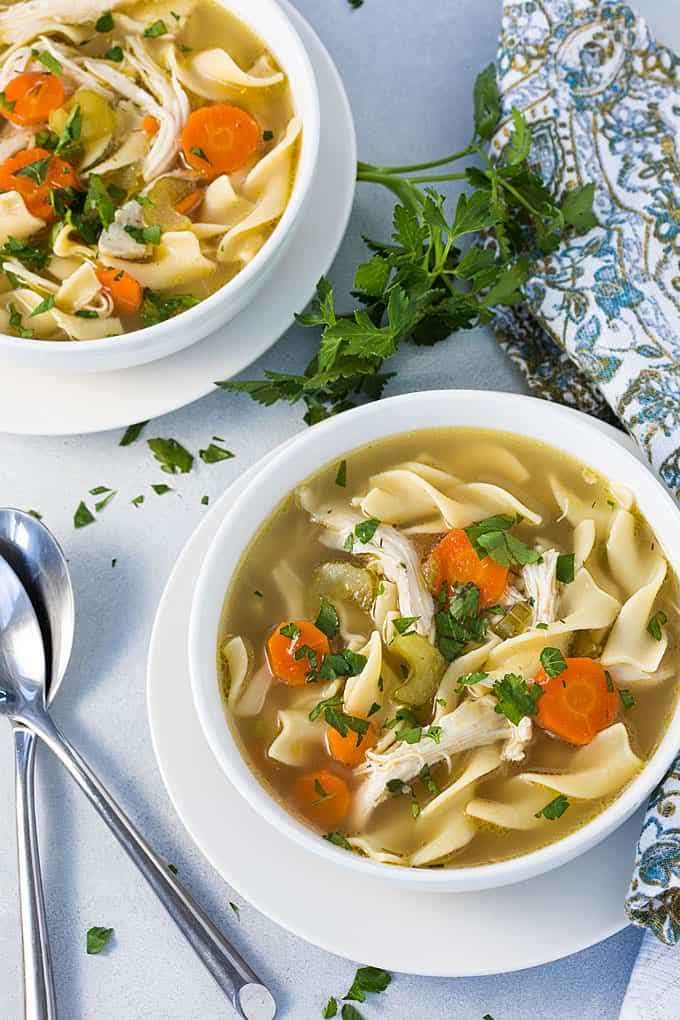 Instant Pot Chicken Noodle Soup | The Blond Cook