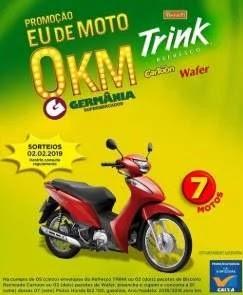 Promoção Germânia Supermercados 2019 Motos 0KM - Parati Trink