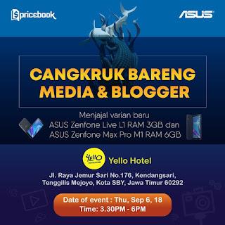 ASUS Cangkruk Bersama Media dan Blogger, Berharap dapat Asus, Aaamiin!