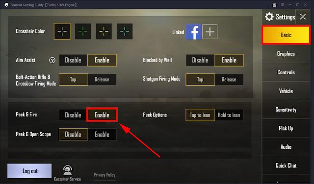 Cara Setting Fitur Menengok (Peek & Fire) PUBG Mobile di Emulator 15