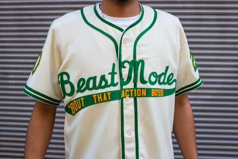 b888afae5 PHOTO  The Marshawn Lynch Beast Mode Baseball Jersey Coming Soon ...