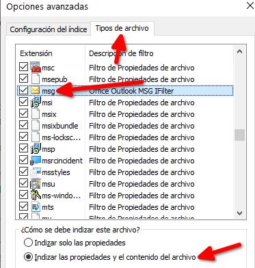 Outlook: No funciona búsqueda
