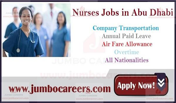 Walk in interview nurse jobs in Abu Dhabi, Latest job openings in UAE,