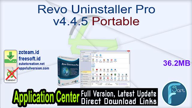 Revo Uninstaller Pro v4.4.5 Portable _ ZcTeam.id
