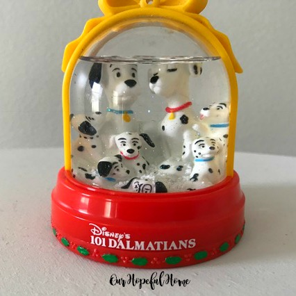 Disney 101 Dalmations Christmas snow globe McDonald's Snow Flurries Happy Meal exclusive China 1996
