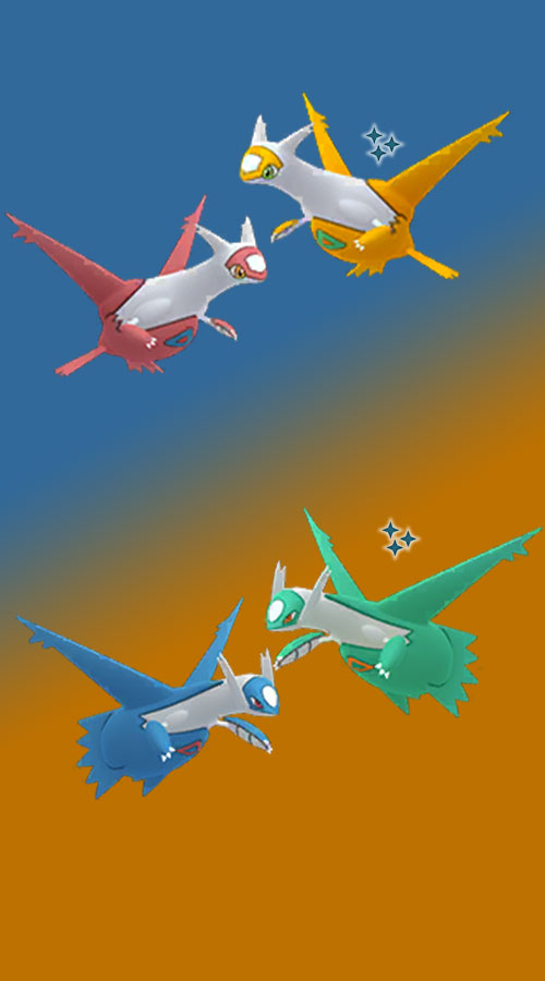 This is what the shiny versions of Latias (above) and Latios (below) look like in Pokémon GO