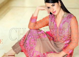 Charizma Luxury Embroidered Chiffon 2015 Vol-4