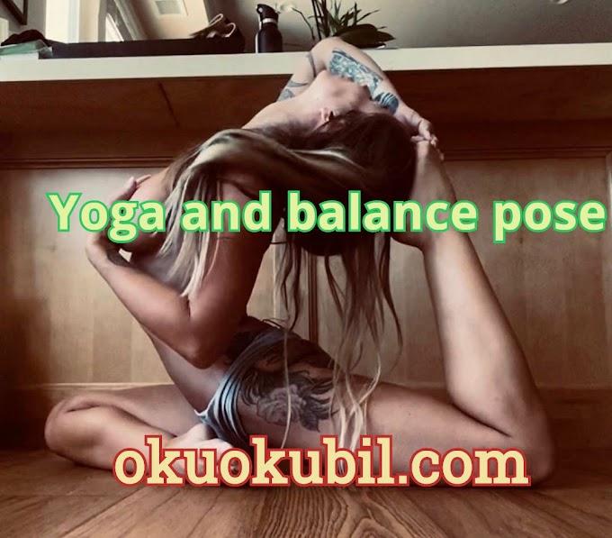 Yoga ve denge pozu (Yoga and balance pose) 2020