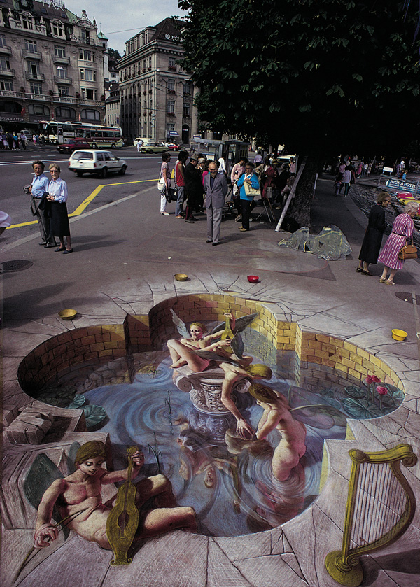 07-Muses-Kurt-Wenner-3D-Street-Pavement-Art-Painting-www-designstack-co
