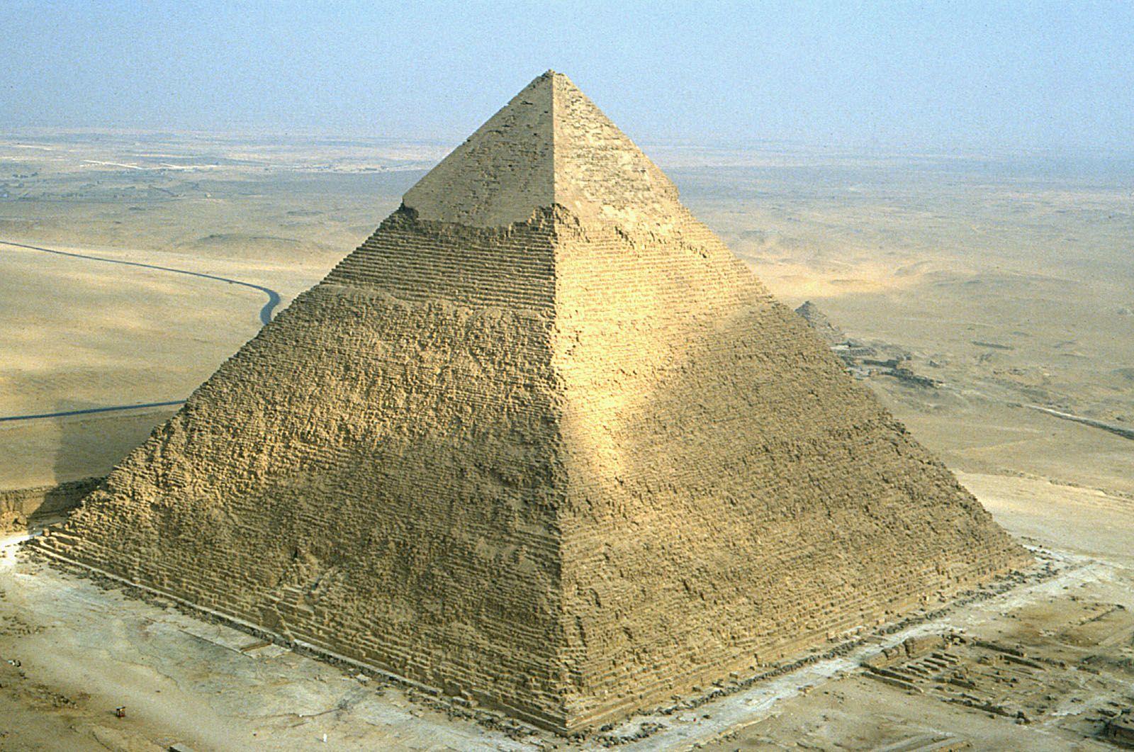 Пирамида Хафра или Хефрена в Египте