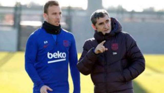 Ter Stegen and Arthur return to training from injury ahead of Granada game