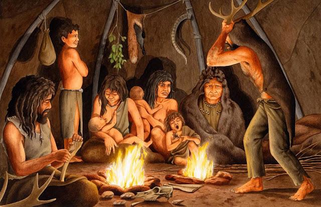 Família de homens da caverna neandertais no período paliolítico tinham mais tdah
