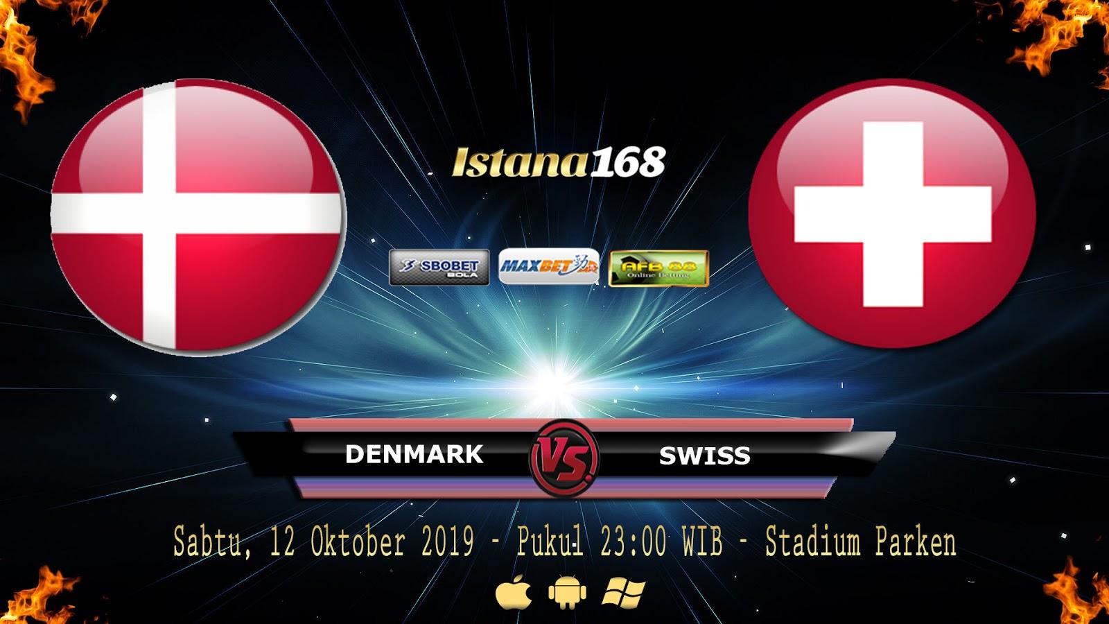 Prediksi Denmark vs Swiss 12 Oktober 2019